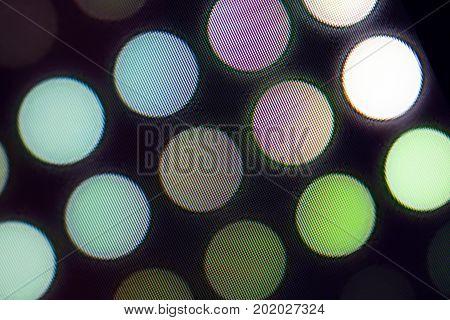 Light emitting diodes nacro for LED display. Digital LED screen background