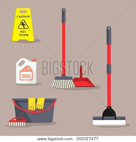 Cleaning time concept. There is a