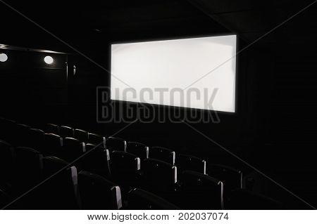 Dark Movie Theatre Interior.