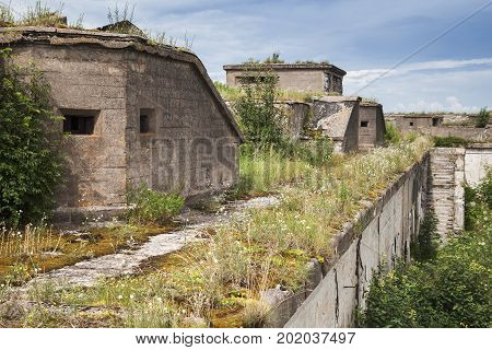 Old Concrete Bunkers From Wwii Period