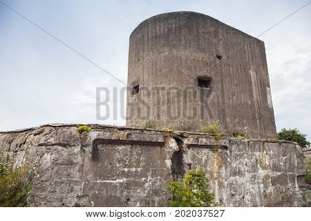 Old Abandoned Bunker From Wwii Period