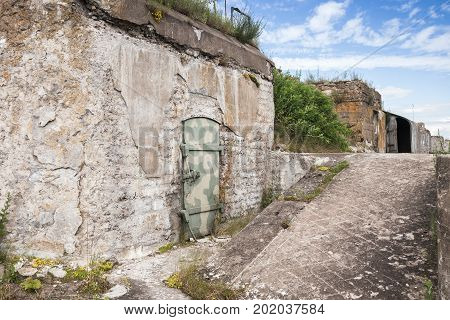 Exterior Of Abandoned Concrete Bunker