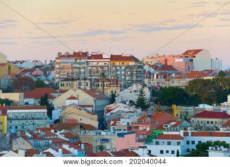 Lisbon At Twilight. Portugal