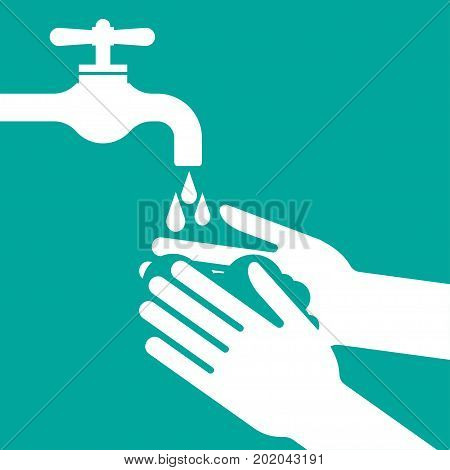 please wash your hands vector illustration icon health care