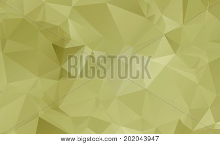 Light Orange Vector Low Poly Crystal Background. Polygon Design Pattern. Low Poly Illustration, Low