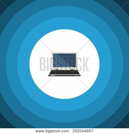 Notebook Vector Element Can Be Used For Laptop, Computer, Notebook Design Concept.  Isolated Laptop Flat Icon.
