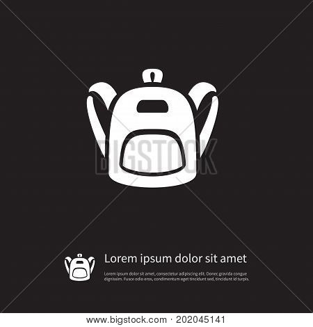Satchel Vector Element Can Be Used For Haversack, Backpack, Bag Design Concept.  Isolated Schoolbag Icon.