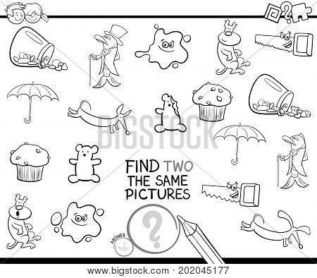 Find Two The Same Pictures Coloring Page