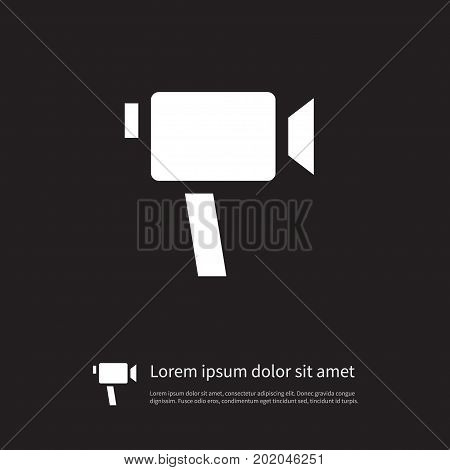 Device Vector Element Can Be Used For Device, Video, Cam Design Concept.  Isolated Video Cam Icon.