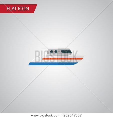 Boat Vector Element Can Be Used For Ship, Boat, Yacht Design Concept.  Isolated Ship Flat Icon.