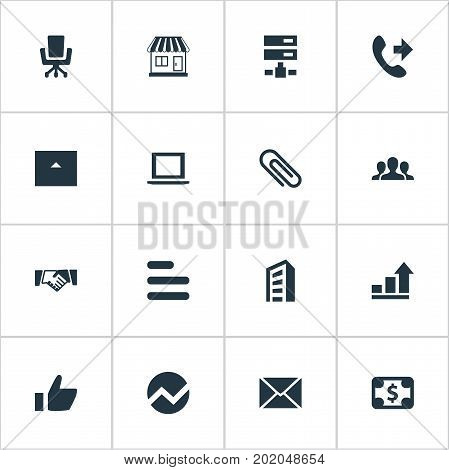 Elements Growth, Telephone, Good And Other Synonyms Technology, Freelance And Vacancy.  Vector Illustration Set Of Simple Teamwork Icons.