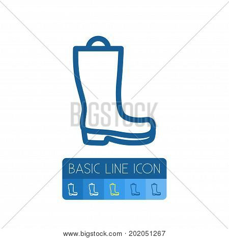 Wellies Vector Element Can Be Used For Wellies, Galoshes, Boots Design Concept.  Isolated Galoshes Outline.