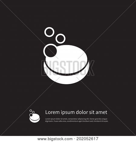 Foam Vector Element Can Be Used For Foam, Soap, Sponge Design Concept.  Isolated Soap Icon.