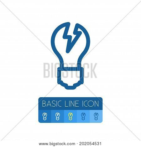 Imagination Vector Element Can Be Used For Imagination, Light, Bright Design Concept.  Isolated Bright Outline.