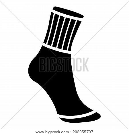 Sock icon. Simple illustration of sock vector icon for web