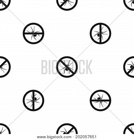No spider sign pattern repeat seamless in black color for any design. Vector geometric illustration