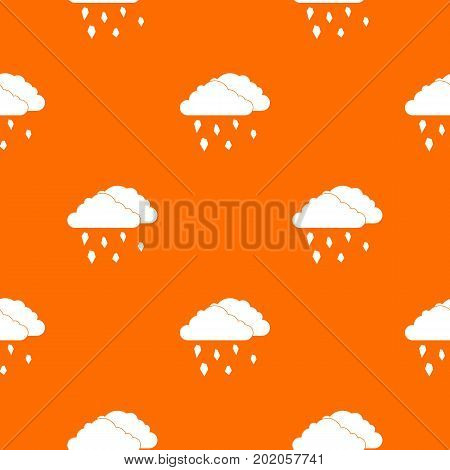 Clouds and hail pattern repeat seamless in orange color for any design. Vector geometric illustration