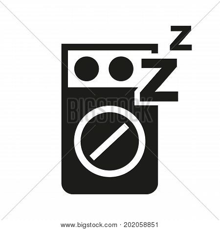 Icon of sleeping aid. Bedroom, suffering, sleepless night. Healthcare concept. Can be used for topics like insomnia, medicine, treatment