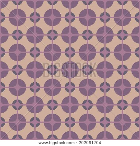 Vintage textile, Seamless colorful patterned retro style