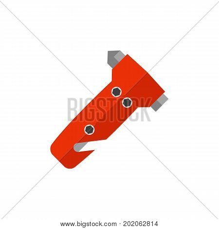 Icon of safety hammer. Road traffic accident, emergency, safety equipment. Car accident concept. Can be used for topics like transportation, automobiles, road safety