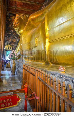 Reclining buddha at wat pho Bangkok, Thailand.  Angkor Wat, Bangkok, Thailand, Wat Pho, Wat Phra Kaeo