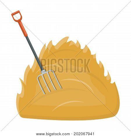 Hay single icon in cartoon style .Hay vector symbol stock illustration .