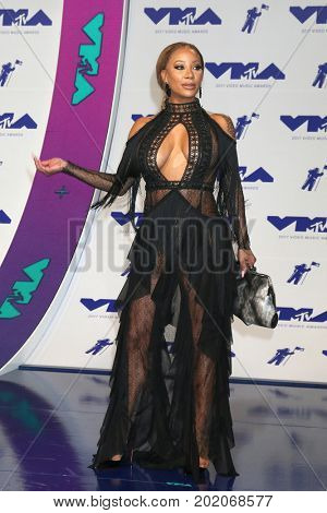 LOS ANGELES - AUG 27:  Hazel-E at the MTV Video Music Awards 2017 at The Forum on August 27, 2017 in Inglewood, CA