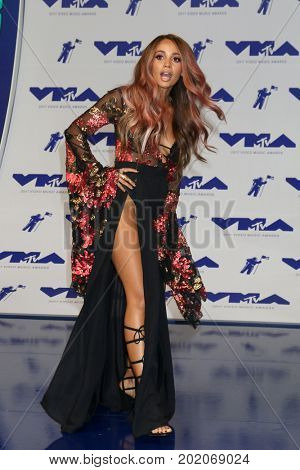 LOS ANGELES - AUG 27:  Vanessa Morgan at the MTV Video Music Awards 2017 at The Forum on August 27, 2017 in Inglewood, CA