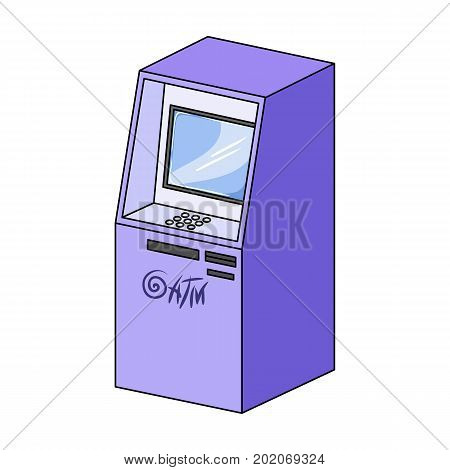 Terminal, ATM for receiving cash. Terminals single icon in cartoon style isometric vector symbol stock illustration .