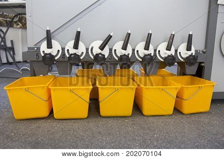 Agricultural machinery equipment - grains and seeds in mixer - high technology for agricultural, horizontal