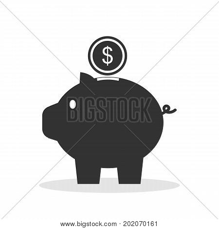 Piggy bank piggy. Money. Saving. Coins. The icon. For your design.