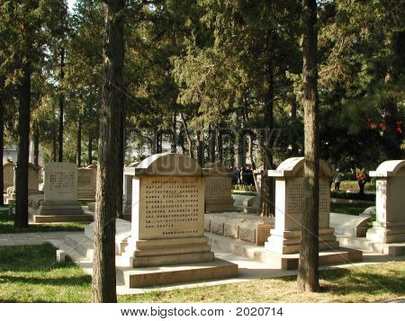 Chinese Grave Markers