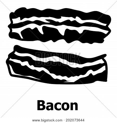 Bacon icon. Simple illustration of bacon vector icon for web