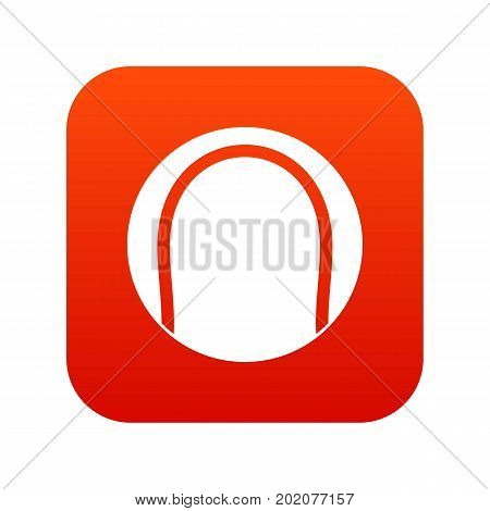 Black and white tennis ball icon digital red for any design isolated on white vector illustration