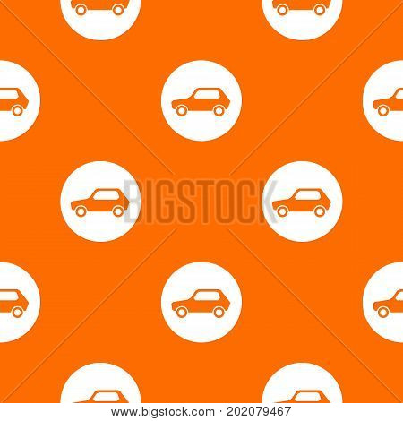 Only motor vehicles allowed road sign pattern repeat seamless in orange color for any design. Vector geometric illustration