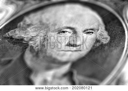 George Washington on one dollar bill obverse