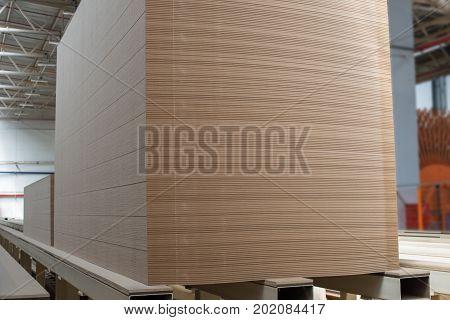 Big Stack Of Mdf Boards. Medium Density Fibreboard