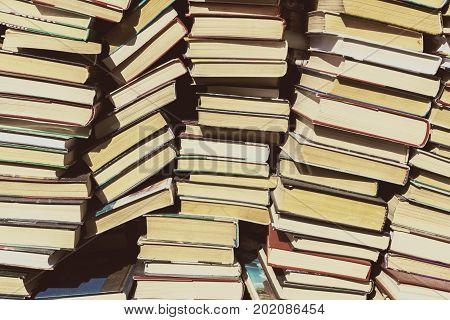 Background of old booksBackground of old books located in the bookstore in a bookstore