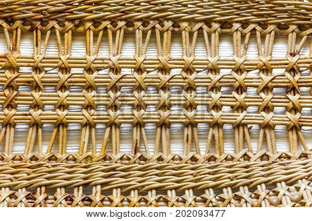 Pattern Nature For Background Of Handicraft Weave Texture Wicker Surface