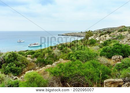 Sea view from the park Cavo Greco in Ayia Napa