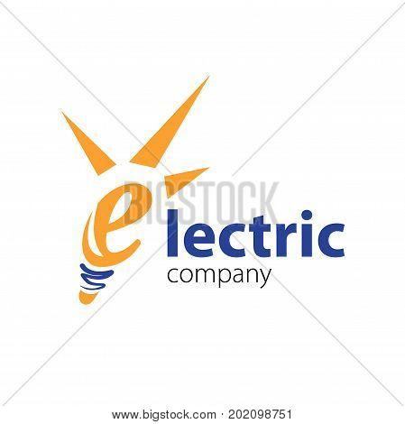 Electric logo template. Vector Illustration Eps.10. Electric company vector logo