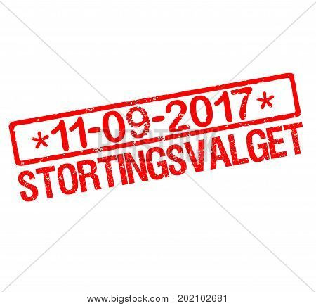 Rubber stamp with text Norwegian parliamentary election 2017