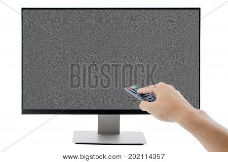 TV flat screen lcd plasma tv mock up. Black HD monitor mockup. Modern video panel black screen mock-up. Widescreen show your business presentation on flat display tv set.