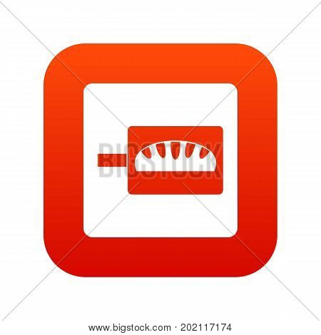 Bread baking icon digital red for any design isolated on white vector illustration