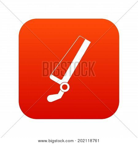 Surgical saw icon digital red for any design isolated on white vector illustration