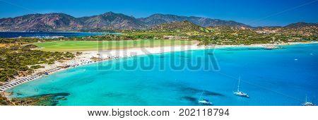 Ponto Giunco Beach Near Famous Chia Beach, Sardinia, Italy