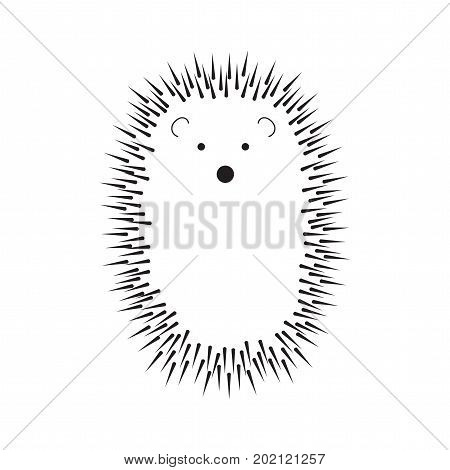 a black and white abstract prickly hedgehog