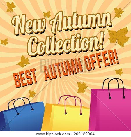 New Autumn Colection, Best Offer Poster Design