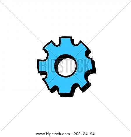 doodle gear illustration, gear stock vector design