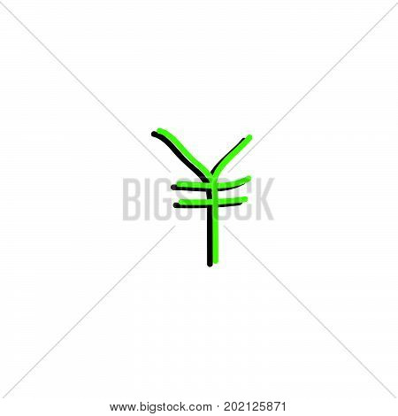 doodle yen symbol, yen symbol stock vector desgin
